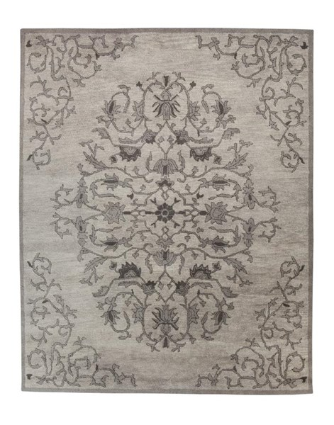 Woven Traditional Classics Gray Large Rug R401751