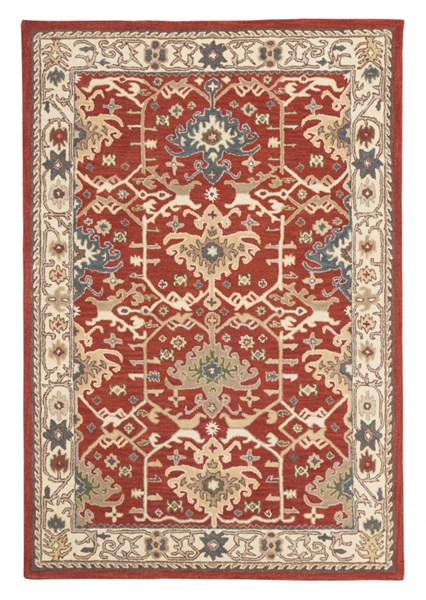 Forcher Traditional Brick Fabric Large Rugs R40185-RUG-VAR