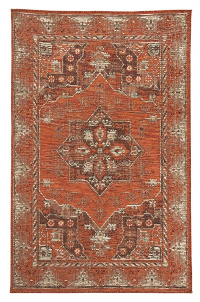 Dalit Traditional Rust Fabric Medium Rug R401922