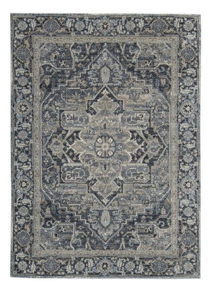 Ashley Furniture Paretta Cream Navy Gray Large Rug R404171