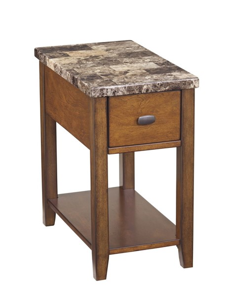 Ashley Furniture Breegin Brown Chairside End Table T007-158