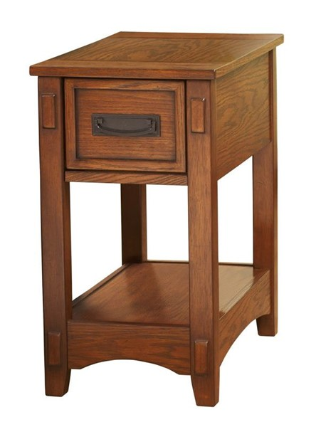 Ashley Furniture Brown Wood Chairside Table T007-319
