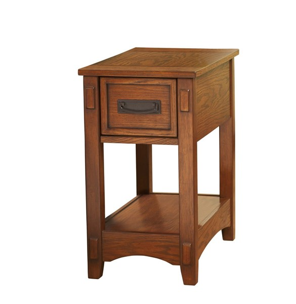 Contemporary Brown Wood Chairside End Table T007-319