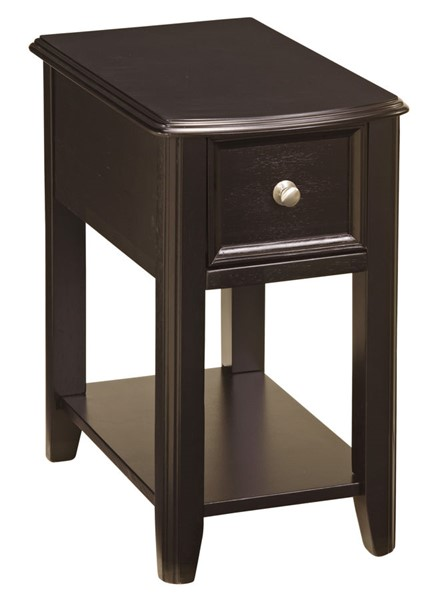 Ashley Furniture Black Chairside Table T007-371
