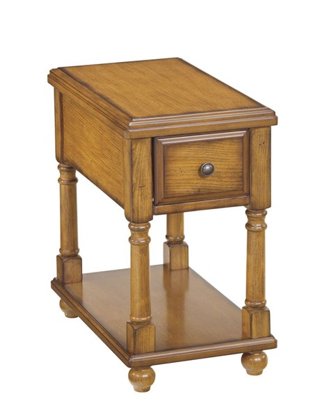 Ashley Furniture Brown Chairside Storage End Table T007-430