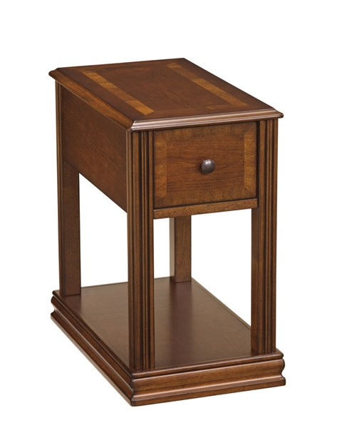 Contemporary Brown Wood Rectangle Chairside End Table T007-527