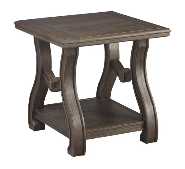 Ashley Furniture Tanobay Gray Square End Table T046-2