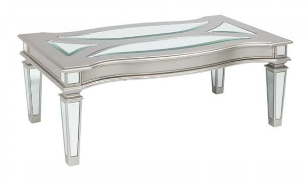 Ashley Furniture Tessani Silver Rectangular Cocktail Table T099-1