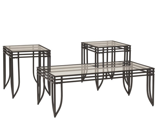 Ashley Furniture Exeter 3pc Coffee Table Set T113-13