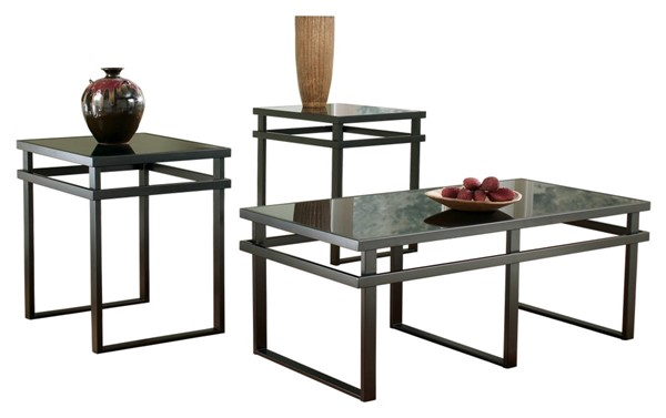 Ashley Furniture Laney Metal 3pc Occasional Table Set T180-13