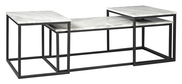 Ashley Furniture Donnesta Gray Black 3pc Occasional Table Set T182-13