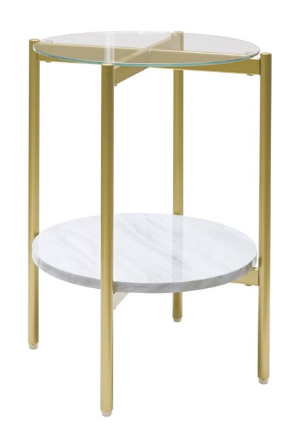 Ashley Furniture Wynora White Gold Round End Table T192-6