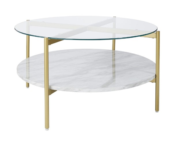 Ashley Furniture Wynora White Gold Round Cocktail Table T192-8