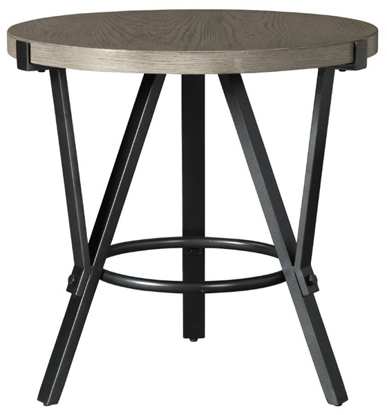 Ashley Furniture Zontini Light Brown Round End Table T206-6