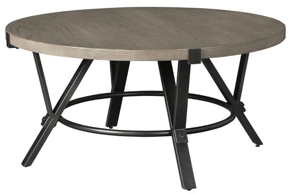 Ashley Furniture Zontini Light Brown Round Cocktail Table T206-8