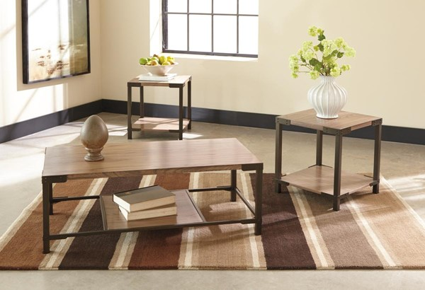 Dexifield Vintage Casual Light Brown Occasional Table Set (3/CN) T209-13