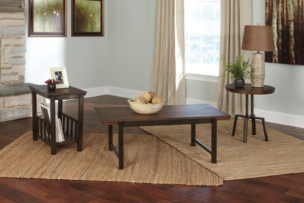Riggerton Vintage Casual Burnished Brown Occasional Table Set (3/CN) T212-13