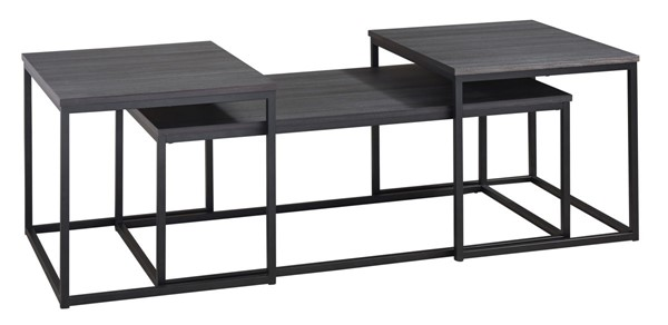 Ashley Furniture Yarlow Black Wood 3 In 1 Pack T215-13