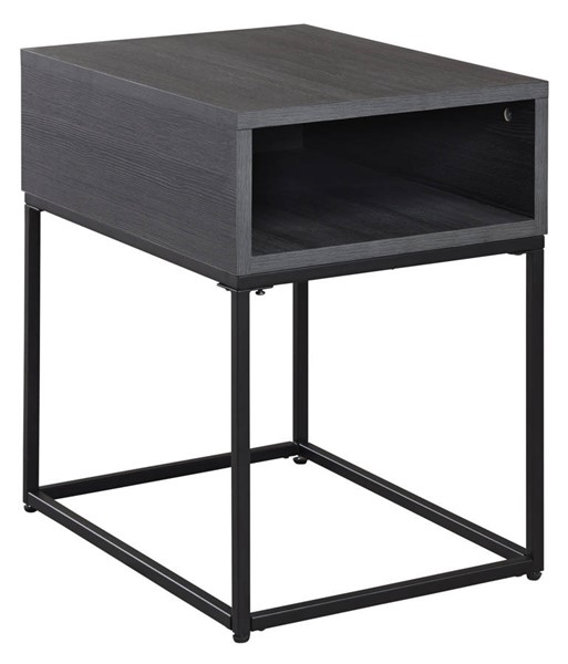 Ashley Furniture Yarlow Black Rectangular End Table T215-3