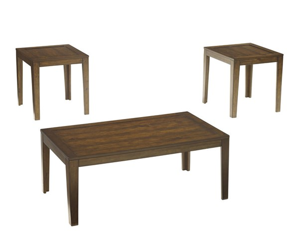 Hollytyne Vintage Casual Brown Wood Occasional Table Set (3/Cn) T228-13