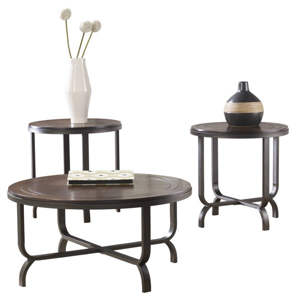 Ashley Furniture Ferlin 3pc Occasional Table Set T238-13