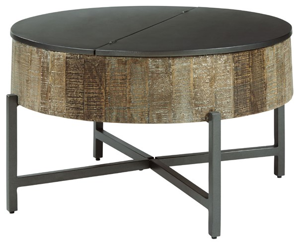 Ashley Furniture Nashbryn Brown Round Cocktail Table T240-8