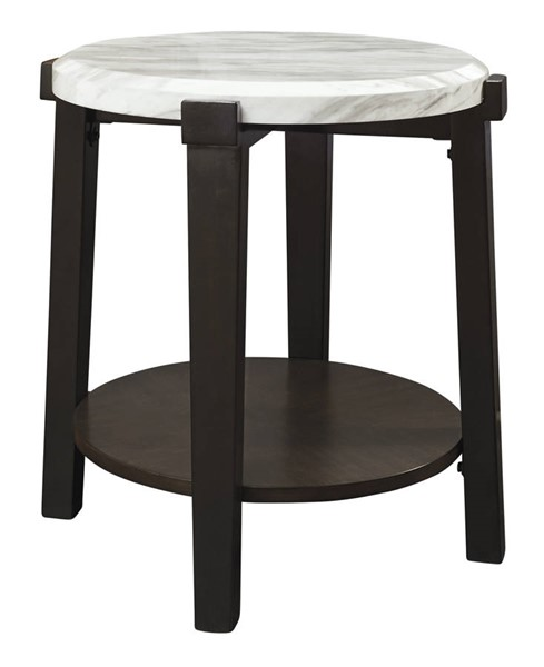 Ashley Furniture Janilly Dark Brown Round End Table T254-6