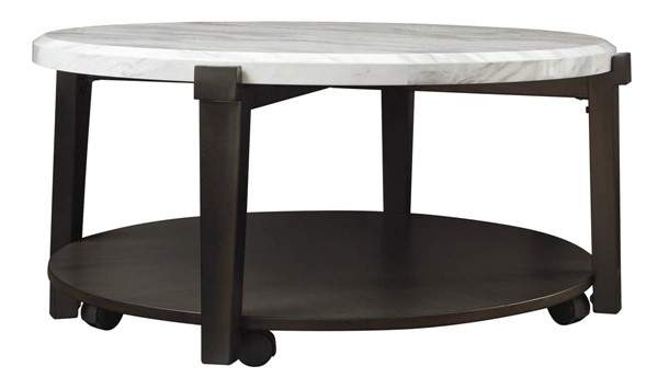 Ashley Furniture Janilly Dark Brown Round Cocktail Table T254-8