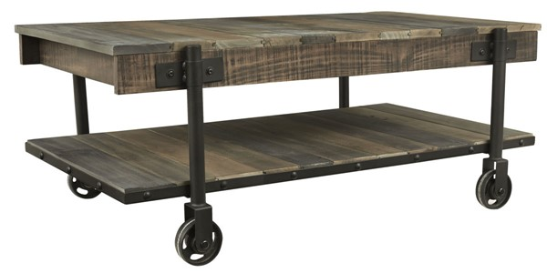 Ashley Furniture Bostweil Light Brown Black Cocktail Table T259-1