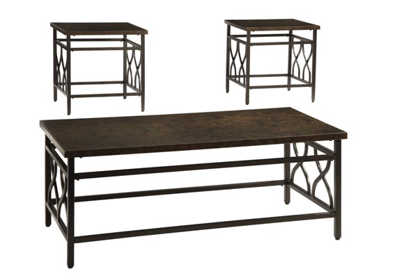 Tippley Bronze Metal 3-In-1 Pack Occasional Table Set T269-13