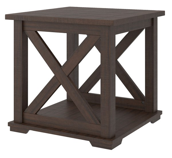 Ashley Furniture Camiburg Warm Brown Square End Table T283-2