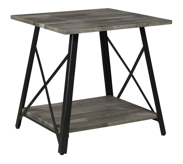 Ashley Furniture Harzoni Casual Grayish Brown Square End Table T314-2