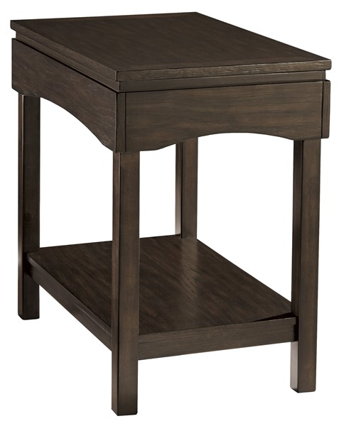 Ashley Furniture Haddigan Brown Chair Side End Table T327-7