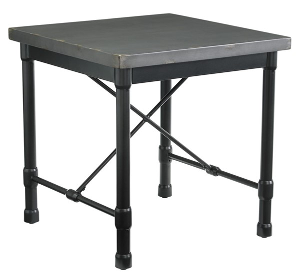 Ashley Furniture Minnona Metallic Gray Square End Table T328-2