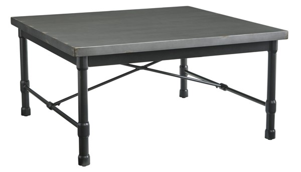 Ashley Furniture Minnona Metallic Gray Square Cocktail Table T328-8