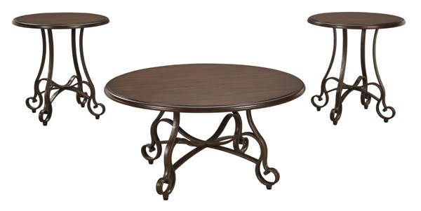 Ashley Furniture Carshaw Brown Occasional Table Set T335-13