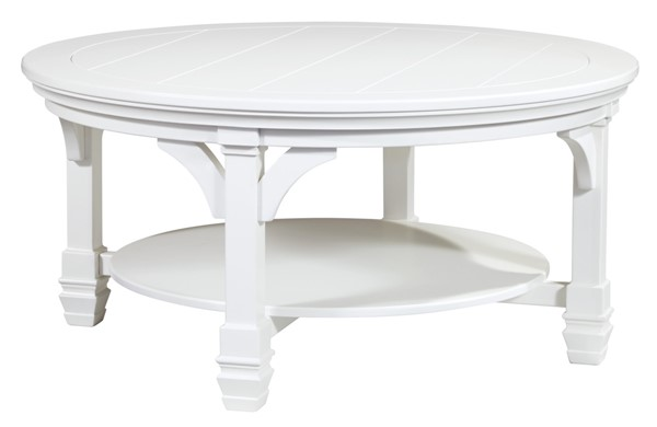 Ashley Furniture Mintville White Round Cocktail Table T371-8