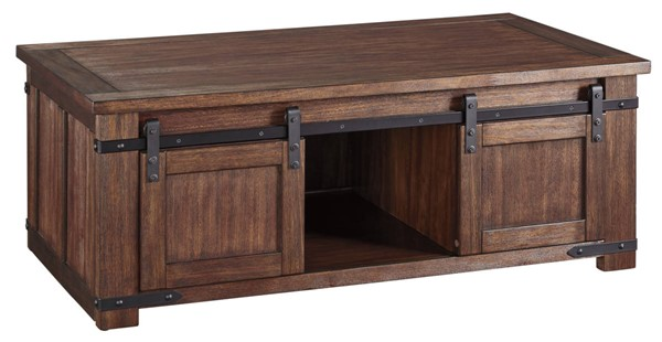 Ashley Furniture Budmore Brown Rectangular Cocktail Table T372-1