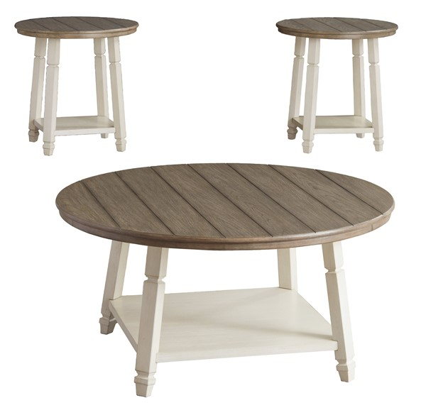Ashley Furniture Bolanbrook Two Tone 3pc Occasional Table Set T377-13
