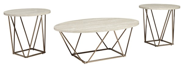 Ashley Furniture Tarica Two Tone 3pc Occasional Table Set T385-13