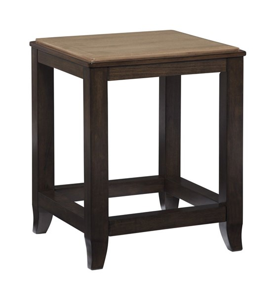 Mandoro Vintage Casual Two tone Brown Square End Table T388-2