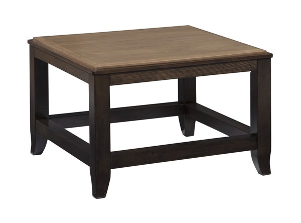 Mandoro Vintage Casual Two tone Brown Square Cocktail Table T388-8