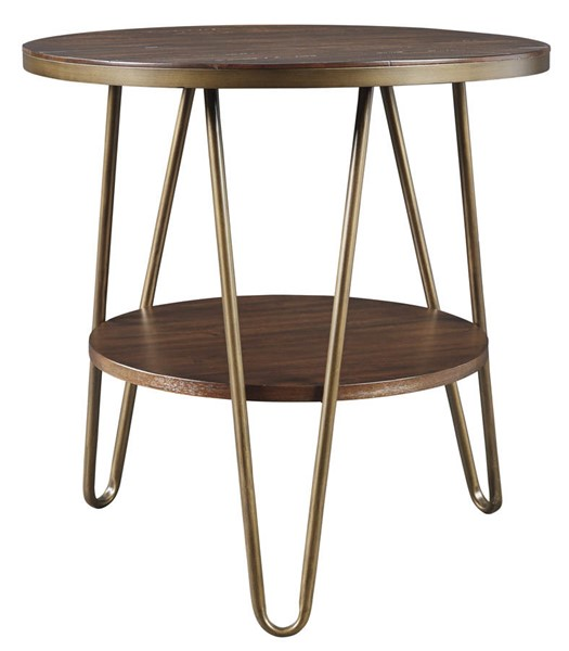 Ashley Furniture Lettori Brown Round End Table T395-6