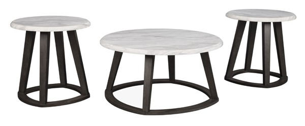 Ashley Furniture Luvoni Charcoal 3pc Occasional Table Set T414-13