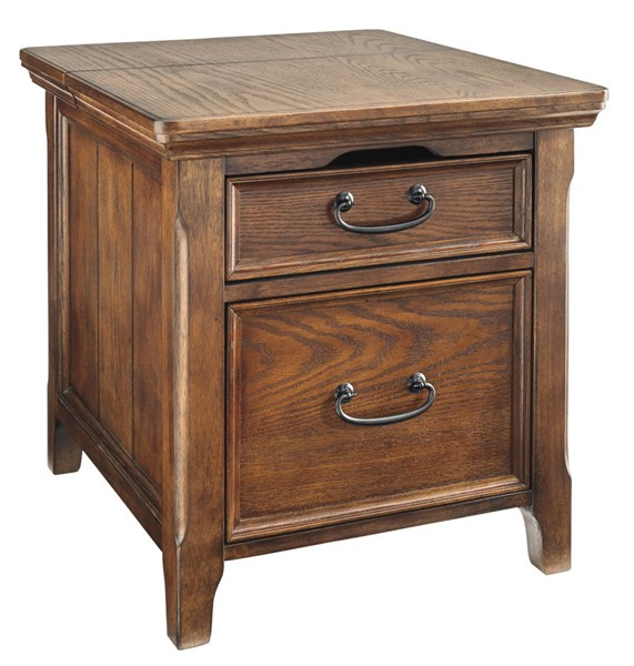 Ashley Furniture Woodboro End Table with File Cabinet T478-17