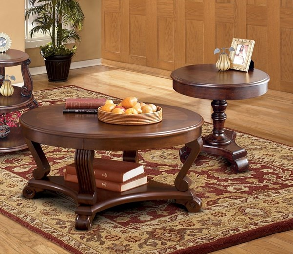 End Year Sale Ashley Furniture: Ashley Furniture Brookfield 3pc Coffee Table Set With