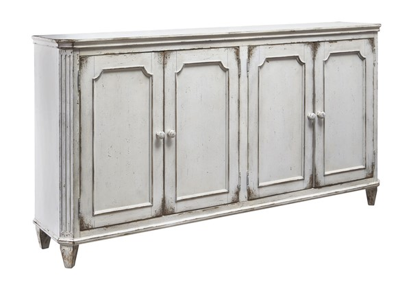 Mirimyn Casual Antique White Solid Wood Door Accent Cabinet T505-560