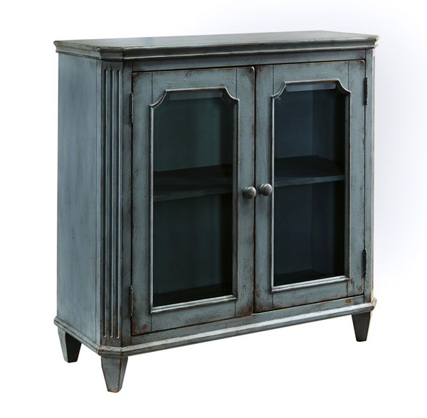 Ashley Furniture Mirimyn Antique Teal Rectangle Door Accent Cabinet T505-742