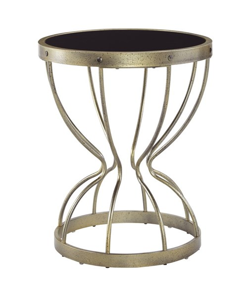 Marxim Contemporary Metal Round End Table T506-106