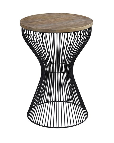 Marxim Contemporary Black Round End Table T506-406
